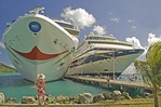 Cruise ships docked at Tortola