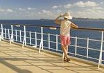 Passenger aboard cruise ship sailing in Caribbean Sea