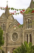 Basseterre's Immaculate Conception Catholic Cathedral in Independence Square on Caribbean island of Saint Kitts