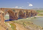 13th Century Ottoman Cobandede Bridge over Aras River between Pasinler and Horasan