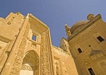 Ishak Pasha Saray fortified palace interior courtyard in mountains near Dogubeyazit