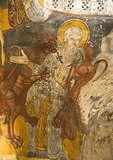 Sumela Monastery, internal fresco of Daniel in the Lion's Den