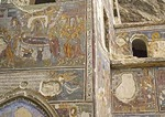 Sumela Monastery, external frescoes, in Zigana Mountains near Trabzon in Eastern Turkey
