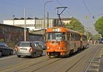 Zagreb electric street tram
