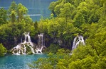 Plitvice Lakes National Park, waterfalls between lakes