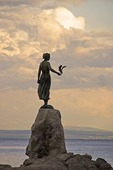 Opatija waterfront on Adriatic Sea with Maiden with Seagull sculpture by Zvonko Car
