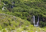 Waterfalls of Krka River in canyon near Kistanje in Vrana region