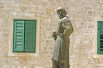 Statue next to Sibenik's Cathedral of Saint James