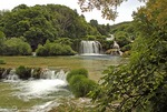 Krka Falls National Park, upper falls on Krka River