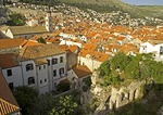 Dubrovnik Old Town roof tops from city wall