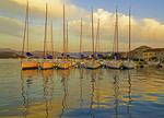 Krapanj Island waterfront marina on Adriatic coast