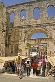 Split's Silver Gate to Diocletian's Palace ruins and souvenir shops