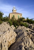 Makarska Lighthouse on Sv Petar peninsula of the Dalmatian coast