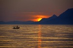 Sunset at Makarska on the Dalmatian coast