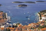 Hvar harbour viewed from Spanjola fortress above, on island of Hvar