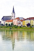 Colorful Danube River village in the Nibelungengau region