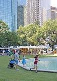 Houston downtown Bayou Art Festival in park