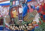 Houston's East End Hispanic neighborhood, 1985 mural