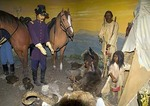 San Antonio's Buckhorn Saloon & Museum, Hall of Texas History, Lt Colonel Robert E. Lee in 1856 treats with plains Indians