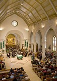 San Antonio's San Fernando Cathedral (oldest in North America), interior during Founder's Day service