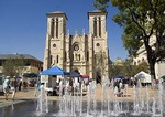 San Antonio's San Fernando Cathedral Plaza during Founder's Day celebration