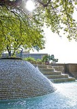San Antonio's HemisFair Plaza water fall fountain