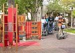 SegCity San Antonio group touring on Segways at La Villita Historic Arts Village
