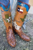 Texas custom made cowboy boots from Little's Boot Company of San Antonio since 1915
