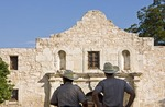 San Antonio Missions, Texas Rangers guarding The Alamo (AKA Mission San Antonio de Valero), State Historic Site