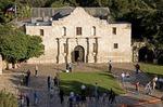 San Antonio Missions, tourists at The Alamo (AKA Mission San Antonio de Valero), State Historic Site