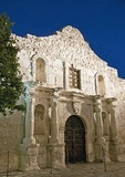 San Antonio Missions, The Alamo (AKA Mission San Antonio de Valero), State Historic Site, at night