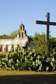 San Antonio Missions, San Juan (AKA Mission San Juan Capistrano), State Historic Site, in morning light