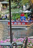 San Antonio Riverwalk with Rio San Antonio Cruises tour boat on San Antonio River
