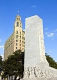 San Antonio's Cenotaph Celebrating Alamo Heroes and Emily Morgan Hotel