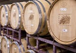 Texas Hill Country, Becker Vineyards oak aging barrels