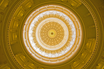 Texas State Capitol rotunda dome in Austin