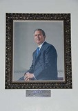 Texas Governor George W. Bush portrait in State Capitol rotunda in Austin