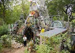 Austin's Cathedral of Junk constructed by artist Vince Canneman in his South Austin neighborhood