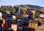 Bayburt Castle, ruin overlooking current small city of Bayburt, was once a Byzantine stop on ancient Silk Road