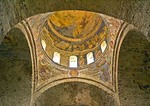 Trabzon's Aya Sofya, Church of the Holy Wisdom, Christian frescoes on vaulted ceiling and dome