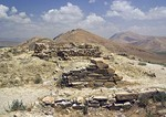 Cavustepe's fortress city Sardurihinli, ruins of 7th century BC Urartian settlement
