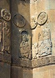 Lake Van's 10th century Armenian Church of the Holy Cross, relief carvings on facade, on Akdamar Island