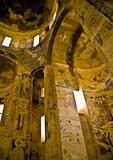Lake Van's 10th century Armenian Church of the Holy Cross, interior frescoes, on Akdamar Island