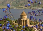 Lake Van's 10th century Armenian Church of the Holy Cross on Akdamar Island