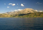 Lake Van, Turkey, mountainous shoreline