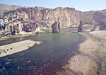 Hasankeyf, ancient city ruins on Tigris River in Batman province, to be flooded by reservoir