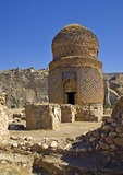 Hasankeyf ancient city, Tomb of Zeynel Bey, Ayybid (White Turkomen) King from 15th century, in Batman province