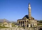 Old Van's Kaya Celebi Mosque with similar Husrev Pasa Mosque in distance