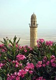 Mardin's Ulu Camii Great Mosque Minaret overlooking plain leading south to Syria