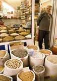 Mardin bazaar shopkeeper, nuts and seeds shop